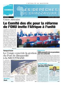 Les Dépêches de Brazzaville : Édition brazzaville du 19 mai 2014