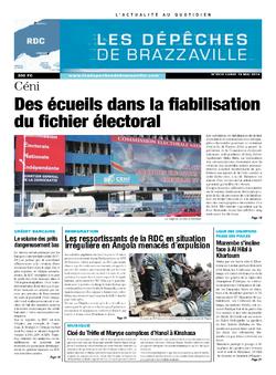 Les Dépêches de Brazzaville : Édition kinshasa du 19 mai 2014