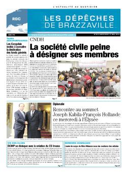 Les Dépêches de Brazzaville : Édition kinshasa du 21 mai 2014