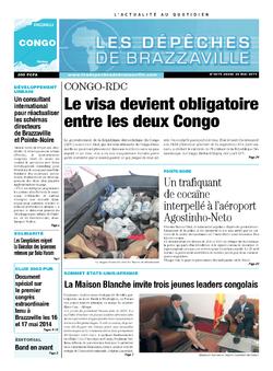 Les Dépêches de Brazzaville : Édition brazzaville du 22 mai 2014