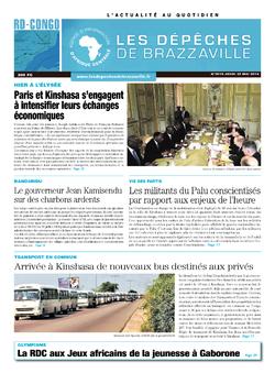 Les Dépêches de Brazzaville : Édition kinshasa du 22 mai 2014