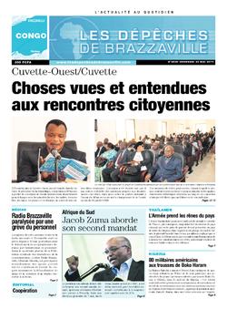 Les Dépêches de Brazzaville : Édition brazzaville du 23 mai 2014