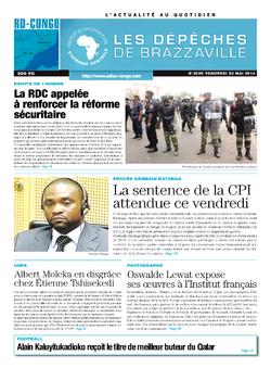 Les Dépêches de Brazzaville : Édition kinshasa du 23 mai 2014