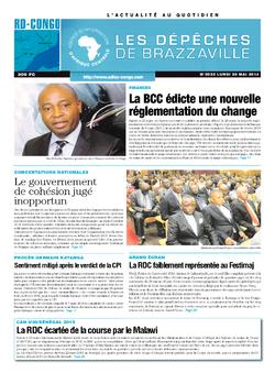 Les Dépêches de Brazzaville : Édition kinshasa du 26 mai 2014