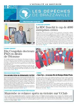 Les Dépêches de Brazzaville : Édition kinshasa du 27 mai 2014