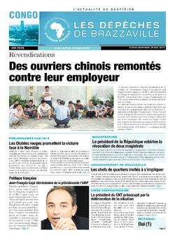 Les Dépêches de Brazzaville : Édition brazzaville du 28 mai 2014