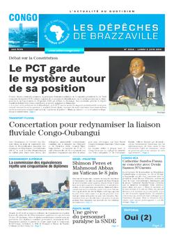 Les Dépêches de Brazzaville : Édition brazzaville du 02 juin 2014