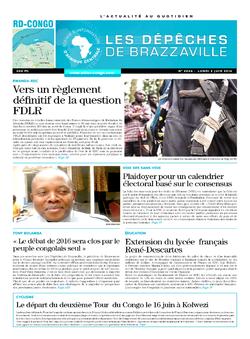 Les Dépêches de Brazzaville : Édition kinshasa du 02 juin 2014