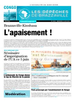 Les Dépêches de Brazzaville : Édition brazzaville du 04 juin 2014