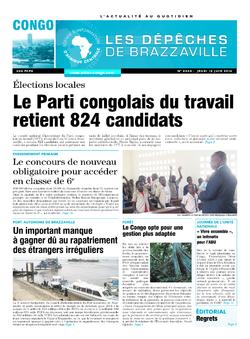 Les Dépêches de Brazzaville : Édition brazzaville du 12 juin 2014