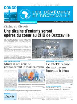 Les Dépêches de Brazzaville : Édition brazzaville du 23 juin 2014