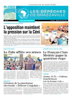 Les Dépêches de Brazzaville : Édition kinshasa du 24 juin 2014