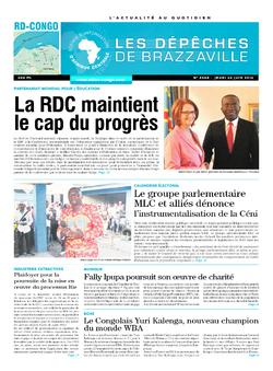 Les Dépêches de Brazzaville : Édition kinshasa du 26 juin 2014