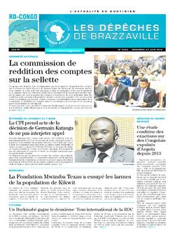 Les Dépêches de Brazzaville : Édition kinshasa du 27 juin 2014