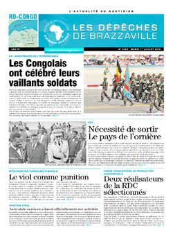 Les Dépêches de Brazzaville : Édition kinshasa du 01 juillet 2014