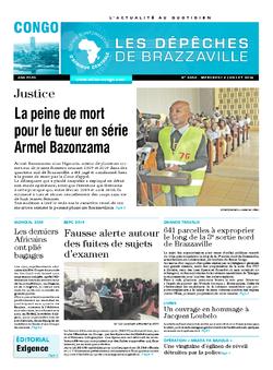 Les Dépêches de Brazzaville : Édition brazzaville du 02 juillet 2014