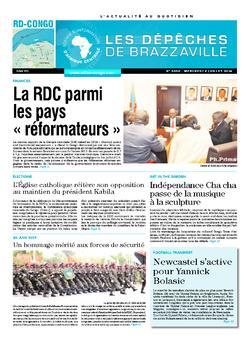 Les Dépêches de Brazzaville : Édition kinshasa du 02 juillet 2014