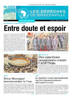 Les Dépêches de Brazzaville : Édition kinshasa du 03 juillet 2014
