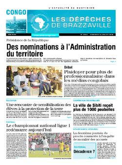 Les Dépêches de Brazzaville : Édition brazzaville du 04 juillet 2014