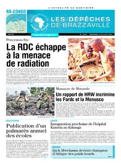 Les Dépêches de Brazzaville : Édition kinshasa du 04 juillet 2014