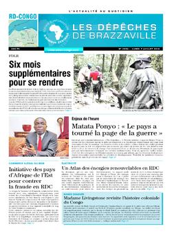 Les Dépêches de Brazzaville : Édition kinshasa du 07 juillet 2014