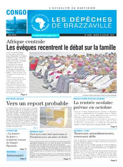 Les Dépêches de Brazzaville : Édition brazzaville du 08 juillet 2014