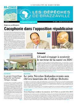 Les Dépêches de Brazzaville : Édition kinshasa du 08 juillet 2014