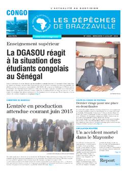 Les Dépêches de Brazzaville : Édition brazzaville du 09 juillet 2014