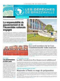 Les Dépêches de Brazzaville : Édition kinshasa du 09 juillet 2014