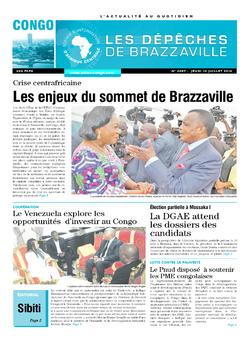 Les Dépêches de Brazzaville : Édition brazzaville du 10 juillet 2014