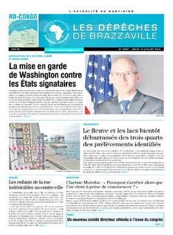 Les Dépêches de Brazzaville : Édition kinshasa du 10 juillet 2014