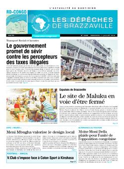 Les Dépêches de Brazzaville : Édition kinshasa du 11 juillet 2014