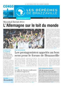 Les Dépêches de Brazzaville : Édition brazzaville du 14 juillet 2014