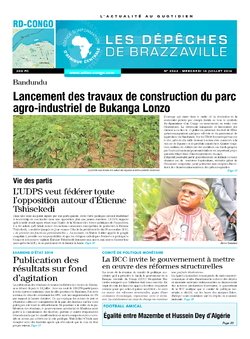Les Dépêches de Brazzaville : Édition kinshasa du 16 juillet 2014