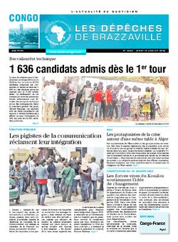 Les Dépêches de Brazzaville : Édition brazzaville du 17 juillet 2014