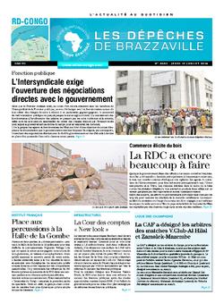 Les Dépêches de Brazzaville : Édition kinshasa du 17 juillet 2014