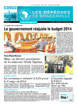 Les Dépêches de Brazzaville : Édition brazzaville du 18 juillet 2014