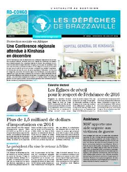 Les Dépêches de Brazzaville : Édition kinshasa du 18 juillet 2014