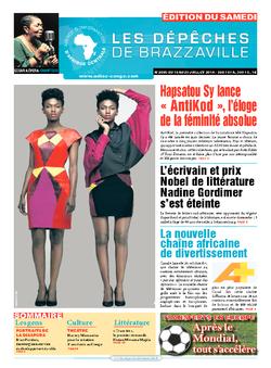 Les Dépêches de Brazzaville : Édition du 6e jour du 19 juillet 2014