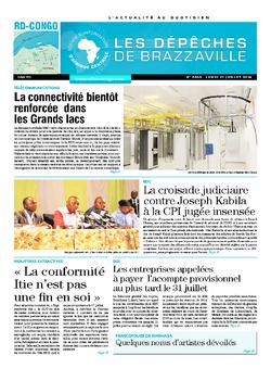 Les Dépêches de Brazzaville : Édition kinshasa du 21 juillet 2014