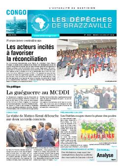 Les Dépêches de Brazzaville : Édition brazzaville du 22 juillet 2014