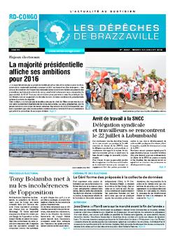Les Dépêches de Brazzaville : Édition kinshasa du 22 juillet 2014