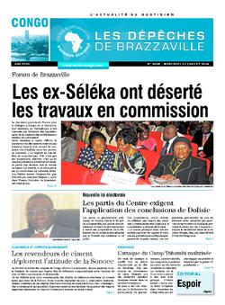 Les Dépêches de Brazzaville : Édition brazzaville du 23 juillet 2014