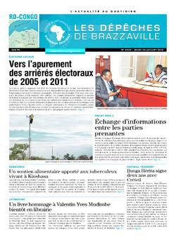 Les Dépêches de Brazzaville : Édition kinshasa du 24 juillet 2014