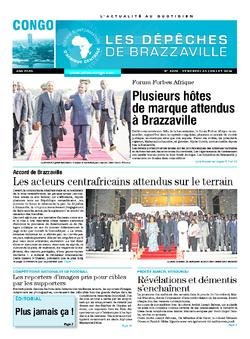 Les Dépêches de Brazzaville : Édition brazzaville du 25 juillet 2014