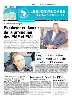 Les Dépêches de Brazzaville : Édition kinshasa du 25 juillet 2014