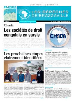 Les Dépêches de Brazzaville : Édition kinshasa du 28 juillet 2014