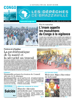 Les Dépêches de Brazzaville : Édition brazzaville du 29 juillet 2014