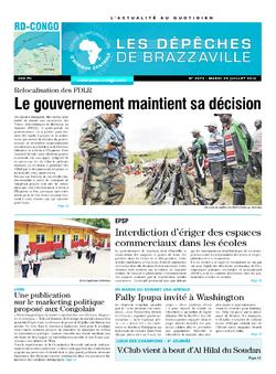 Les Dépêches de Brazzaville : Édition kinshasa du 29 juillet 2014