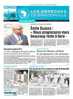 Les Dépêches de Brazzaville : Édition brazzaville du 30 juillet 2014